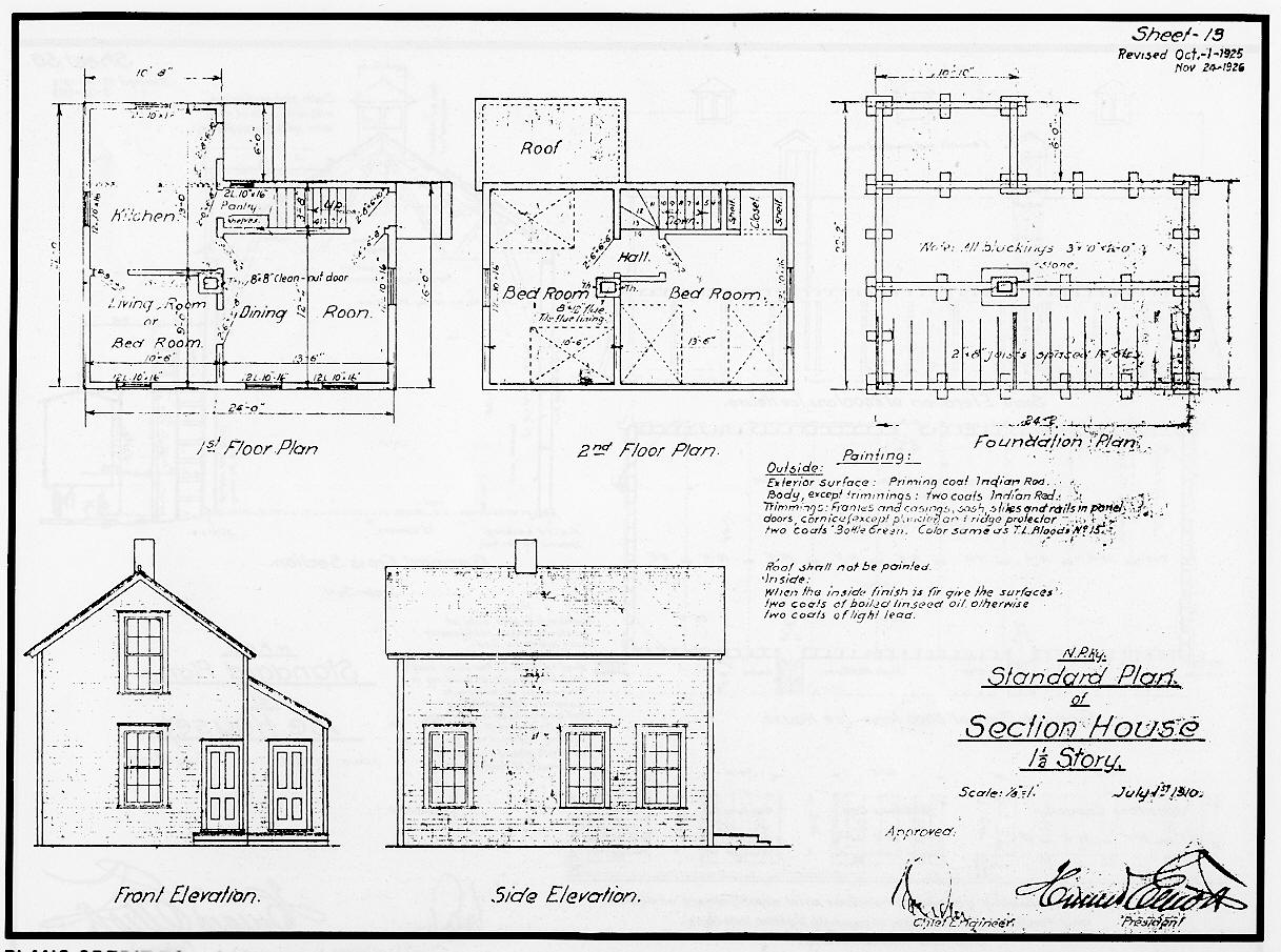 Standard Plans Section House Story